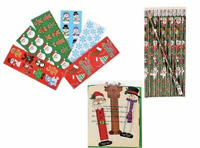 Christmas Character Pencil, Stickers and Bookmarks Set 122 Pieces