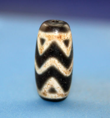 "25*12 mm Antique  Dzi  Agate  old "" Tiger tooth "" Bead from Tibet Free shipping"