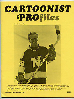 CARTOONIST PROFILES #12 (Dec 1971) VF condition! Charles Schulz (Peanuts) cover