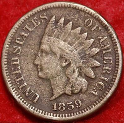 1859 Philadelphia Mint Copper-Nickel Indian Head Cent Free Shipping