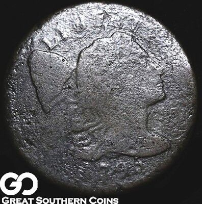 1795 Large Cent, Flowing Hair, RARE Early Key Date, Very Tough!