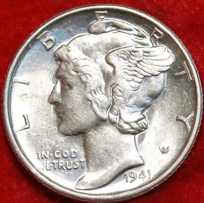 Uncirculated 1941-S San Francisco Mint Silver  Mercury Dime Free Shipping