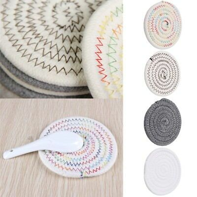 Hand Made Cotton Thread Weave Insulation Placemats Dining Cup Pad Table Place