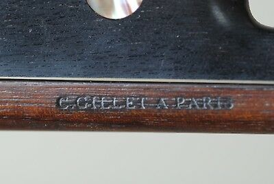 Violin bow stamped C. Gillet A Paris full size old