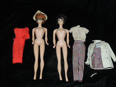 Vintage 1960's Lot of 2 Barbie Dolls w/ Clothing