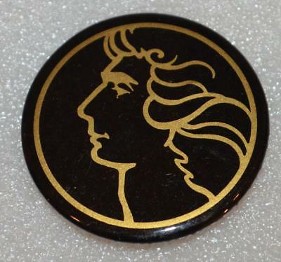 """BARRY MANILOW 1980 Tour Of The World Pin Badge Pinback Button 2.2"""" Yacht Rock"""