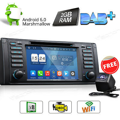 Android 6.0 8 Core Car Stereo DVD GPS Navigation For BMW E39 M5 CD Player +CAM A