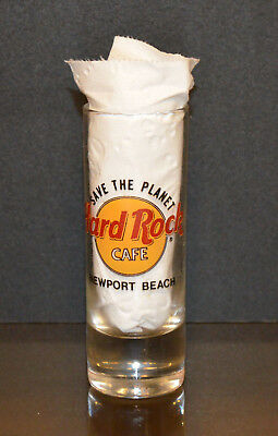 Hard Rock Cafe ~ NEWPORT BEACH ~ CLEAR SHOT GLASS - Excellent Condition!!