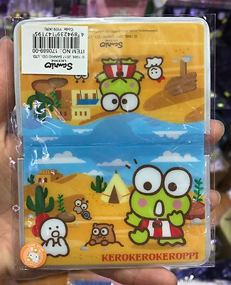 2017 Sanrio Keroppi Frog Fold Card Holder With SIM Card ~ NEW Free Shipping
