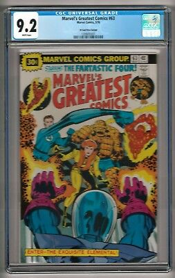 Marvel's Greatest Comics #63 (1976) CGC 9.2 White Pages  30 Cent Price Variant