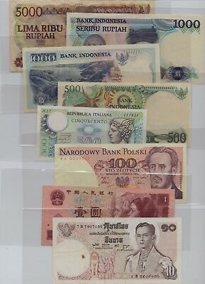 [$] World, Lot (25) Notes, Used
