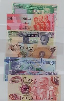 [$] Africa, Lot (17) Notes, UNC