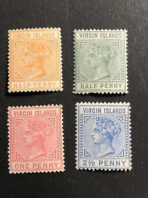 British Virgin Islands Scott #12-15 (SG#26-31) mint CV £143