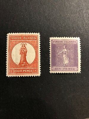 British Virgin Islands Scott #16-17 (SG#37 and 39) mint OG CV £64