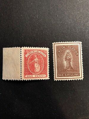 British Virgin Islands Scott #19-20 (SG#32, 41) mint partial gum CV £48