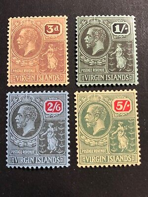 British Virgin Islands Scott #49-52 (SG#82-85) mint OG CV £48