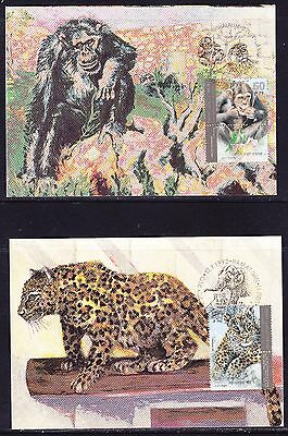Israel 1992 Zoo Animals set 4 Maxi cards