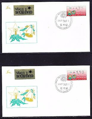 Israel 1992 Christmas Framas set 6 First Day Covers