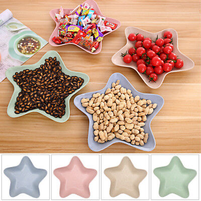 Star Dish Shaped Candy Made Plastic Angel Cookie Contain Fruit Snack Plate New