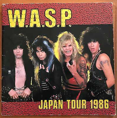 W.a.s.p. - 1986 Tour Book Programme Japan Electric Circus  Wasp Very Rare!!