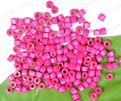 NP1425 200pcs Wood Spacer loose Beads Charms Jewelry Accessories Findings 4X3MM
