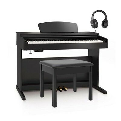 DP-10X Digital Piano by Gear4music + Piano Stool Pack Gloss Black