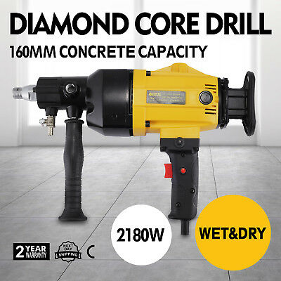 Vevor 160mm Wet & Dry Hand Held Core Drill Rig for Diamond Bits 240V 2180w