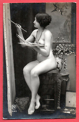 """FRENCH NUDE by """"PN PARIS"""" :Orig. Real Photographic postcard ca.1920"""