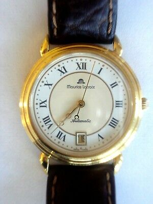 Herrenuhr Maurice Lacroix Automatic Date Gelbgold Vintage 36mm