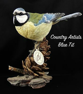 Country Artists02969 Blue Tit With Pine Cone Large Figure 2004