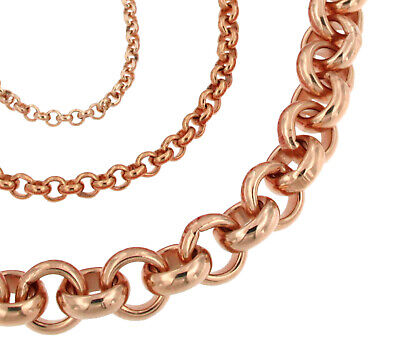 BELCHER Chain Necklace Rose Gold Doublé Men Women Gift New Jewellery From ITALY