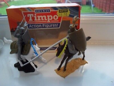 timpo boxed solid action figures, mounted knights