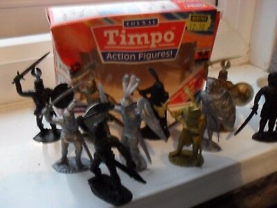 timpo boxed solid action figures,  knights