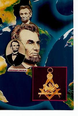 MASONIC POSTCARD - ABRAHAM lINCOLN French Limited Edition 100