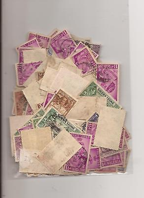 Sierra Leone Approx 150/200 Used Stamps As Scan