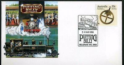 Australia 1986 Puffing Billy - Unaddressed Commemorative Cover