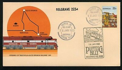 Australia 1985 Puffing Billy - Carried Unaddressed Commemorative Cover