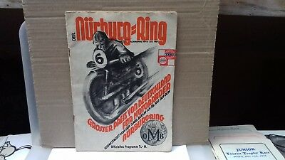 scarce 1929  german motorcycle grand prix nurburgring programme, germany