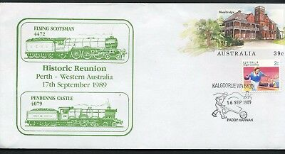 Australia 1989 Flying Scotsman reunion - Unaddressed Commemorative Cover