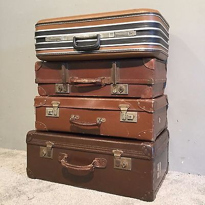Vintage Collection Luggage Case Trunk Chest Display Box Suitcases Coffee Table