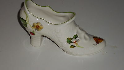 James Kent Old Foley Made in England Wild Strawberry Shoe shape floral pattern