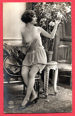 """FRENCH NUDE by """"ALFRED NOYER"""" :Orig. Real Photographic postcard ca.1920"""