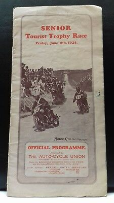 scarce 1928  senior tourist trophy race programme,  I.O.M  T.T RACE,