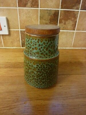Poole Pottery Green Pattern Storage Jar (circa late 60's/early 70's)