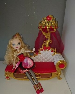 Disney Ever After High Apple White Doll and Fainting Chair