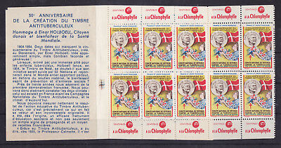 FRANCE Mint NH TBC Complete Booklet with 10 Stamps Cinderellas
