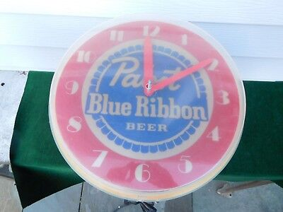 Vintage Lighted Advertising Clock PABST BLUE RIBBON BEER - FOR RESORE