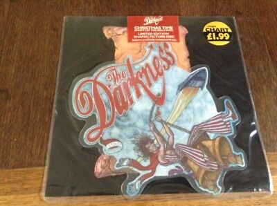 "7"" Darkness Christmas Time Still Sealed Picture Disc Metal Rock"