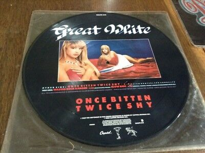 "12"" Great White ""once Bitten Twice Shy"" Picture Disc Metal Rock"