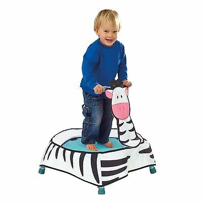 Getgo Zebra Toddler Trampoline Indoor Active Fun Kids Age 12 Months + Free P+P